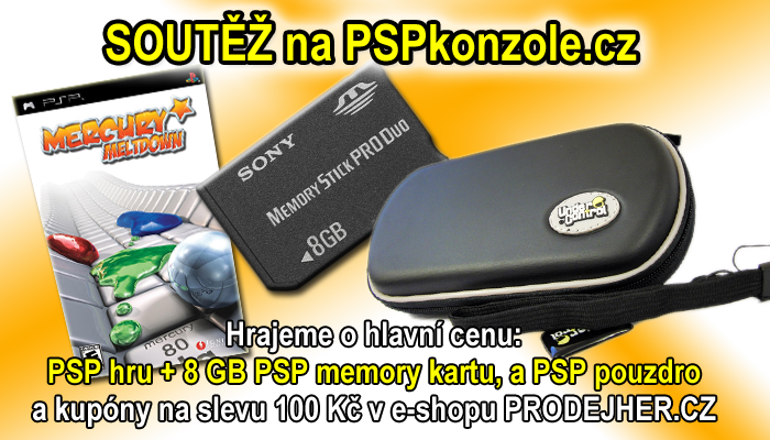O herní megabalíček: hra na Sony PSP + 8 GB PSP memory karta a PSP pouzdro